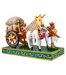 Bullock Cart Carrying Harvest - Kondapalli Doll