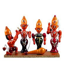 Ram Darbar - Wooden Chennapatna Dolls