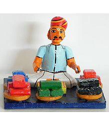 Cloth Merchant - Kondapalli Doll