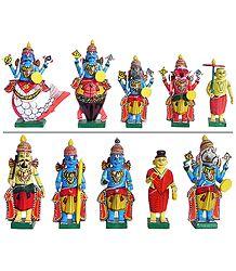 Dashavatara - Wood Statue