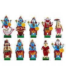 Wooden Dashavatar - Kondapalli Dolls