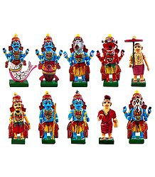 Wooden Dashavatar - Kondapalli Dolls