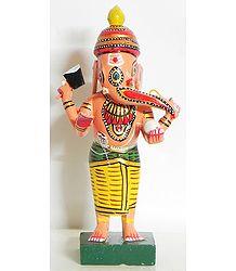 Lord Ganesha Wearing Yellow Dhoti -Kondapalli Doll