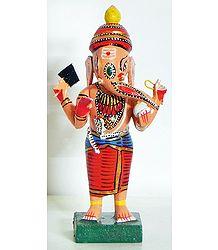 Lord Ganesha Wearing Red Dhoti