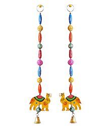Hanging Camels wiith Colorful Wooden Beads