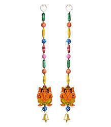 Shop Online Hanging Ganesha wiith Colorful Wooden Beads