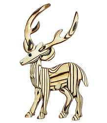 Wooden Deer -  Wall Hanging
