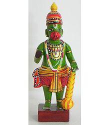 Ram Bhakt Hanuman - Kondapalli Doll