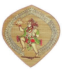Hanuman Carrying Gandhamadan Parvat  - Wall Hanging