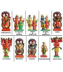 Hindu Gods and Goddesses - Kondapalli Doll