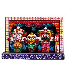 Decorated Jagannath, Balaram and Subhadra