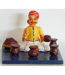 Jaggery Seller - Kondapalli Doll