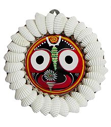 Jagannath Face Decorated with Shells (wall Hanging)