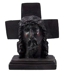 Jesus Christ with Cross - Stone Dust Statue
