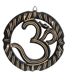 Om Key Rack with Five Hooks - Wall Hanging