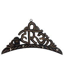 Hari Om Key Rack with Four Hooks - Wall Hanging