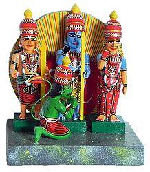 Ram Darbar - Kondapalli Wooden Dolls