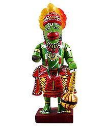Lord Hanuman - Wooden Kondapalli Doll