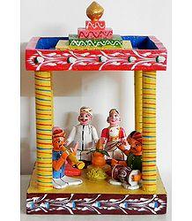 Wedding Scene from Karnataka in South India - Kondapalli Doll