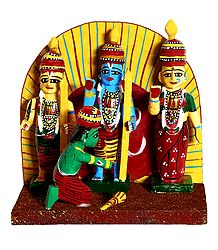 Ram Darbar - Wooden Kondapalli Dolls