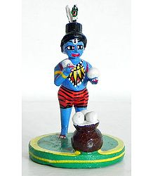 Makhan Chor Krishna - Kondapalli Doll