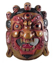Mahakala - Wooden Mask