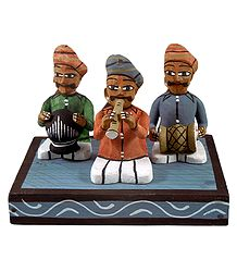 Wooden Indian Musicians