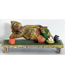 Reclining Ganesha - Kondapalli Doll