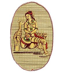 Shakuntala - Wood and Bamboo Strands Wall Hanging
