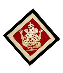 Ganesha - Straw Craft Wall Hanging