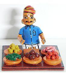 Vegetable Seller - Kondapalli Doll