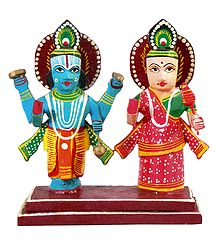 Lord Vishnu and Lakshmi