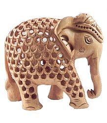Wood Carved Elephant within Elephant