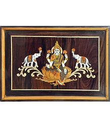 Inlaid Rosewood Wall Hanging