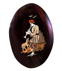 Shepherd - Inlaid Wood Wall Hanging