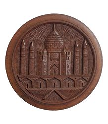 Wood Carving Taj Mahal - Wall Hanging