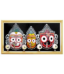 Wooden Faces of Jagannath, Balaram and Subhadra
