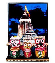 Jagannath, Balaram, Subhadra - Wood Statue