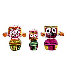 Jagannath, Balaram and Subhadra