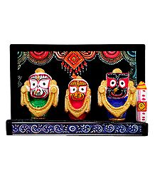 Decorated Jagannath, Balaram and Subhadra