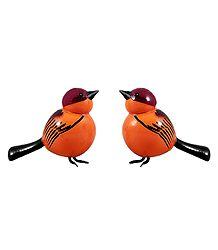 Pair of Wooden Birds