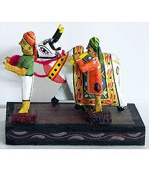 Holy Cow Taken for Puja - Kondapalli Doll