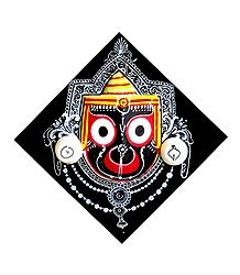 Wooden Jagannath on Square Base - Wall Hanging
