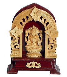 Buy Wooden Statue of Lakshmi