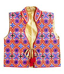 Kutchi Embroidery on Ladies Koti Jacket