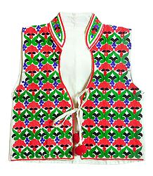 Katchi Embroidery on Ladies Koti Jacket