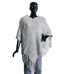 Shop Online Grey Woolen Poncho