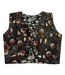 Buy Kantha Stitch on Black Reversible Jacket