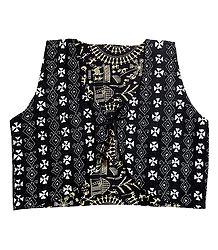 Kantha Stitch Ladies Reversible Waistcoat Jacket