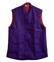 Mens Dark Purple Sleeveless Jacket